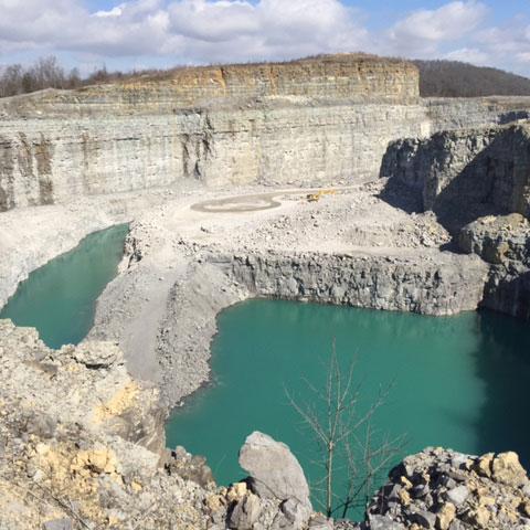 aggregate material quarry